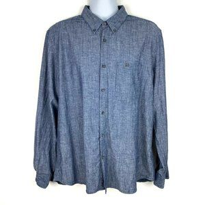 NUDIE JEANS Organic Cotton Chambray Button Down